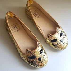 Gap Gold sparkly shoes